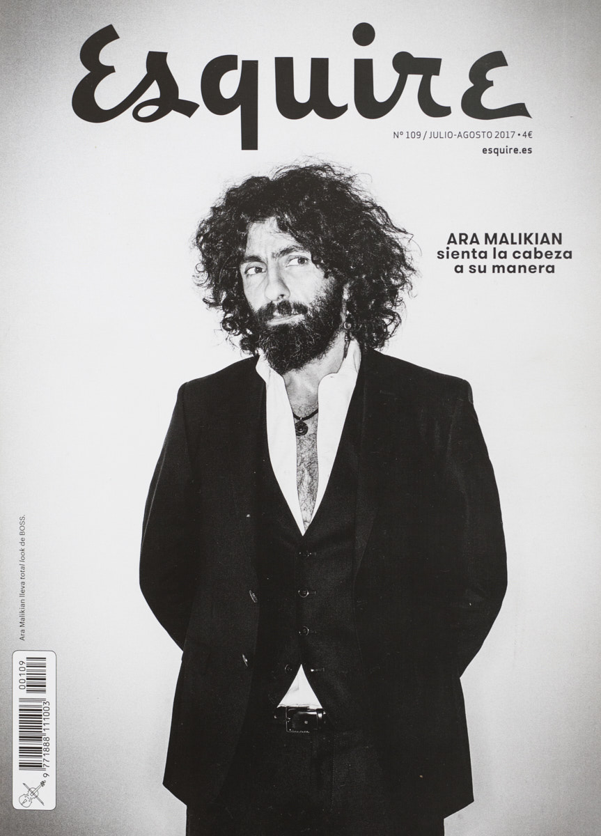 Ara Malikian. Portrait by Jacobo Medrano for Esquire magazine.