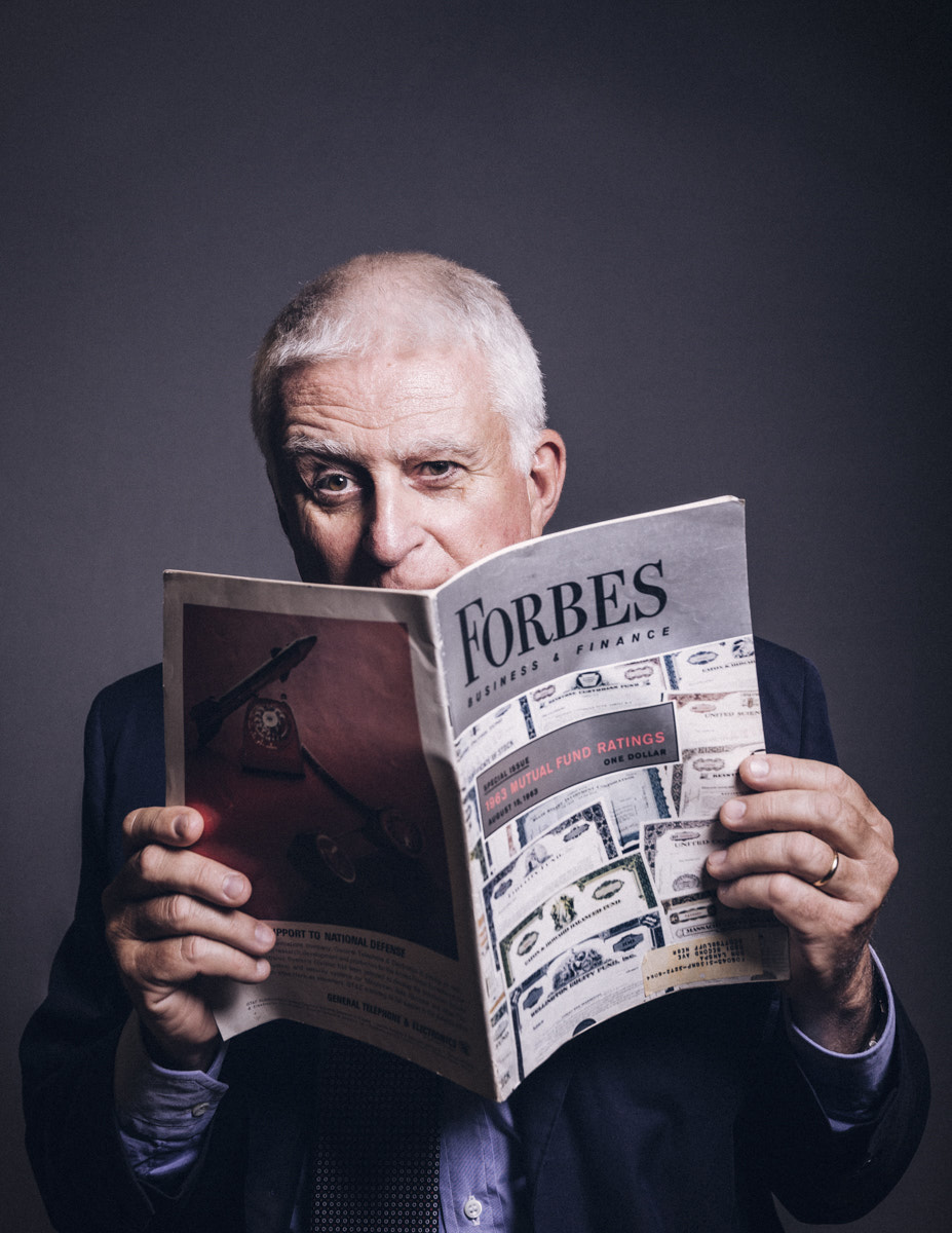 Paolo Vasile. Portrait by Jacobo Medrano for Forbes magazine.