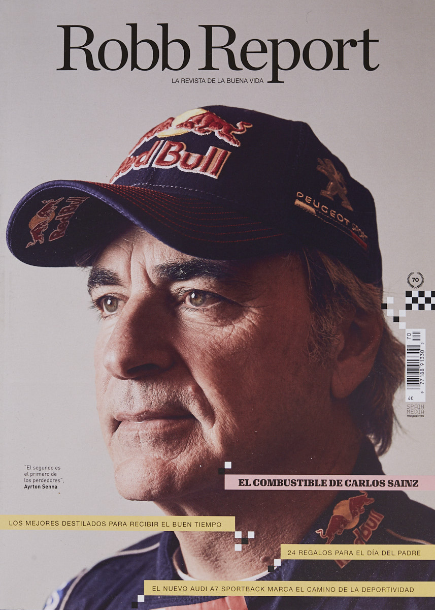 Carlos Sainz. Portrait by Jacobo Medrano for Robb Report magazine.